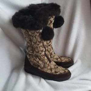 Coach Theona winter boots.